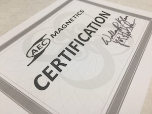 certification magnet 300