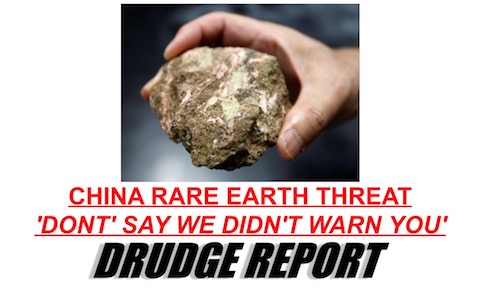 china rare earths drudge
